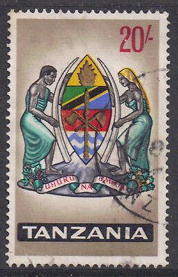 Tanzania 1965 20/- Twenty shilling Coat of Arms very fine used