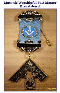 Masonic Worshipful Past Master Breast Jewel ~ Brand New ~ Free Shipping  $ 20.00