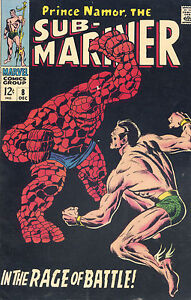 Sub-Mariner-8-Namor-vs-The-Thing-1968-FN-VF-1st-print