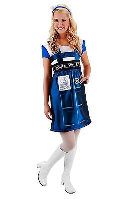 Doctor Who Tardis Dress Womens S/M Halloween Fancy Dress (Tardis Halloween Kostüm)