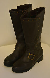 JESSICA Brown Leather Boots  Size 7B