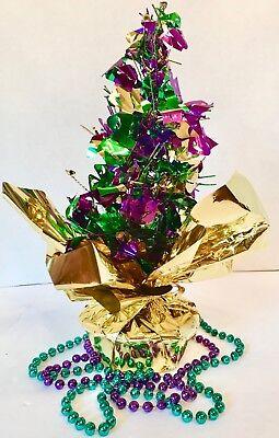 Mardi Gras Tree Centerpiece Small Design Homemade Purple Green Gold - Mardi Gra Centerpieces