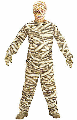 Mummy Kids Costume - Boys Girls Kids Childs Teen Mummy Halloween Fancy Dress Costume Outfit Mask 5-16