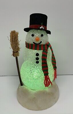 Vintage Avon Chilly Sam Light-Up Snowman With Box - Tested Works