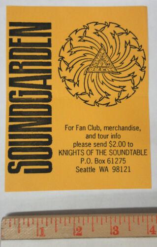 SOUNDGARDEN Badmotorfinger 1991 Fan Club FLYER Knights Of The Soundtable CORNELL