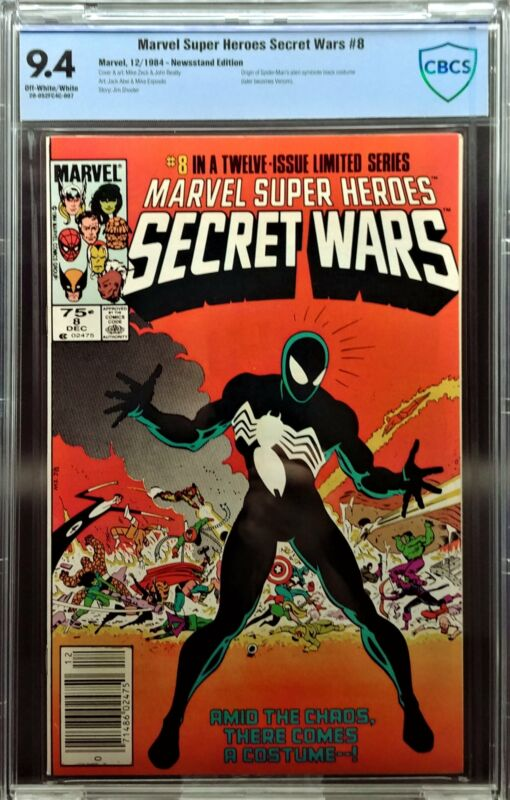 Marvel Super Heroes Secret Wars #8, CBCS 9.4 NM, 1st Black Suit, Newsstand