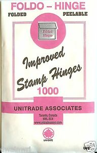 Stamp-Hinges-034-Foldo-Hinge-034-Package-of-1000-Folded-on-SALE