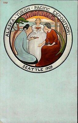 Alaska Yukon Pacific Expo 1909 Postcard Women In Circle