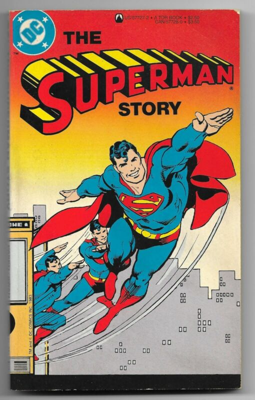1983 Tor Books DC Comics THE SUPERMAN STORY Paperback Book Marty Pasko Curt Swan