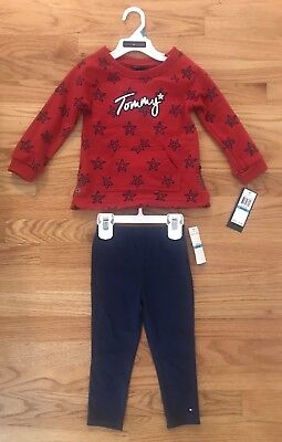 Tommy Hilfiger Toddler Girls 2 Piece Outfit Size 24 Months NWT Retail $50](50 Outfits)
