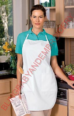 Full Length Apron Black Blue Khaki White Red Green