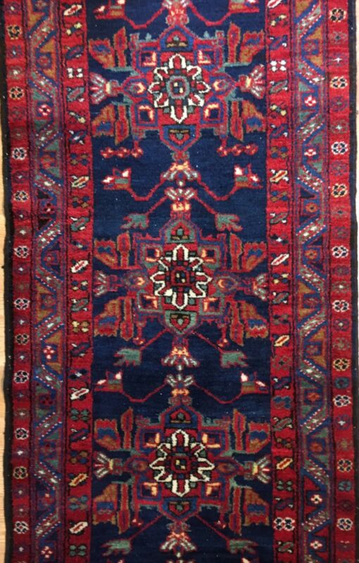 Kurdish Kazak - 1910s Antique Caucasian Rug - Tribal Runner - 2.11 X 13.3 Ft.