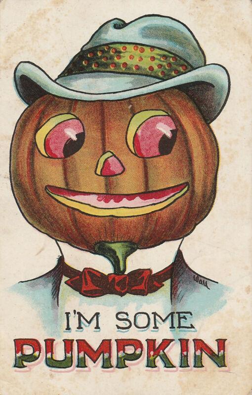 S21 1564 Vintage Bernhardt Halloween Postcard I