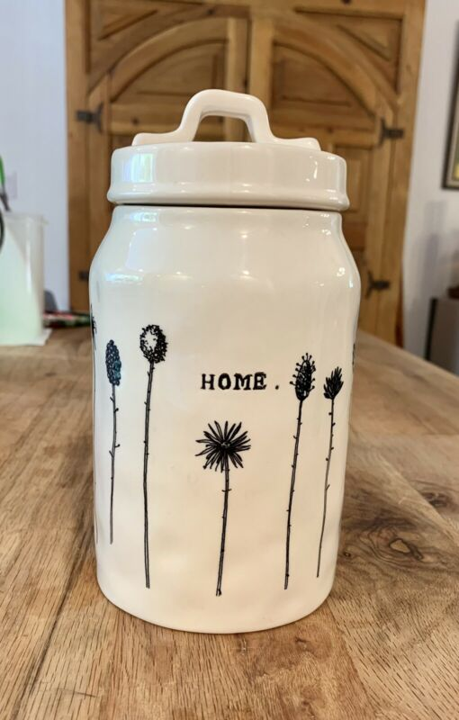 Rare Magenta M Rae Dunn Home Stem Collection Jar Canister
