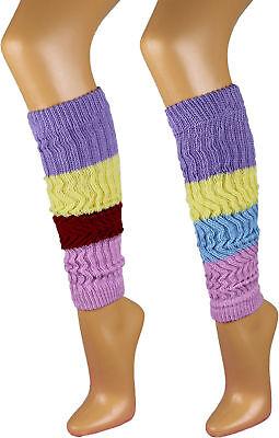 1 Paar Damen Stulpen Legwarmer bunte Strümpfe Socken Damenstulpen Top Trendy