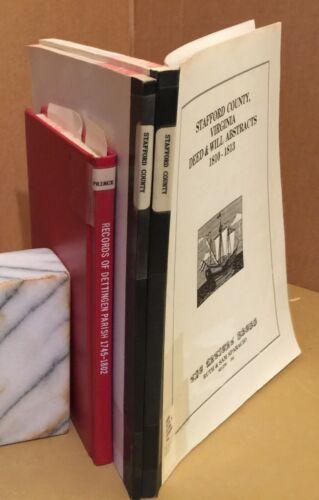 2 Stafford - 1 Prince William County Virginia Dettingen Parish books