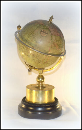 RARE ANTIQUE  FRENCH GLOBE CLOCK - WE SHIP WORLDWIDE