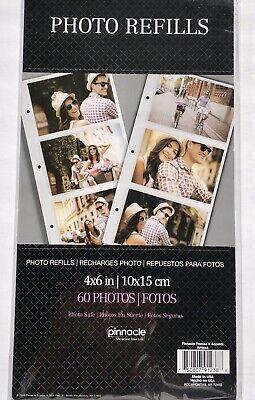 Pinnacle Frames and Accents Refill Sheets 4 X 6 /10 Sheets 60 Photos /3 Per (Pinnacle Frames)