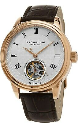 Stuhrling  Men's 780.05 Legacy Automatic Self Wind Leather Strap Watch