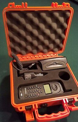 Globalstar Qualcomm 1600 Satellite Phone In Weatherproof Case with Car Charger