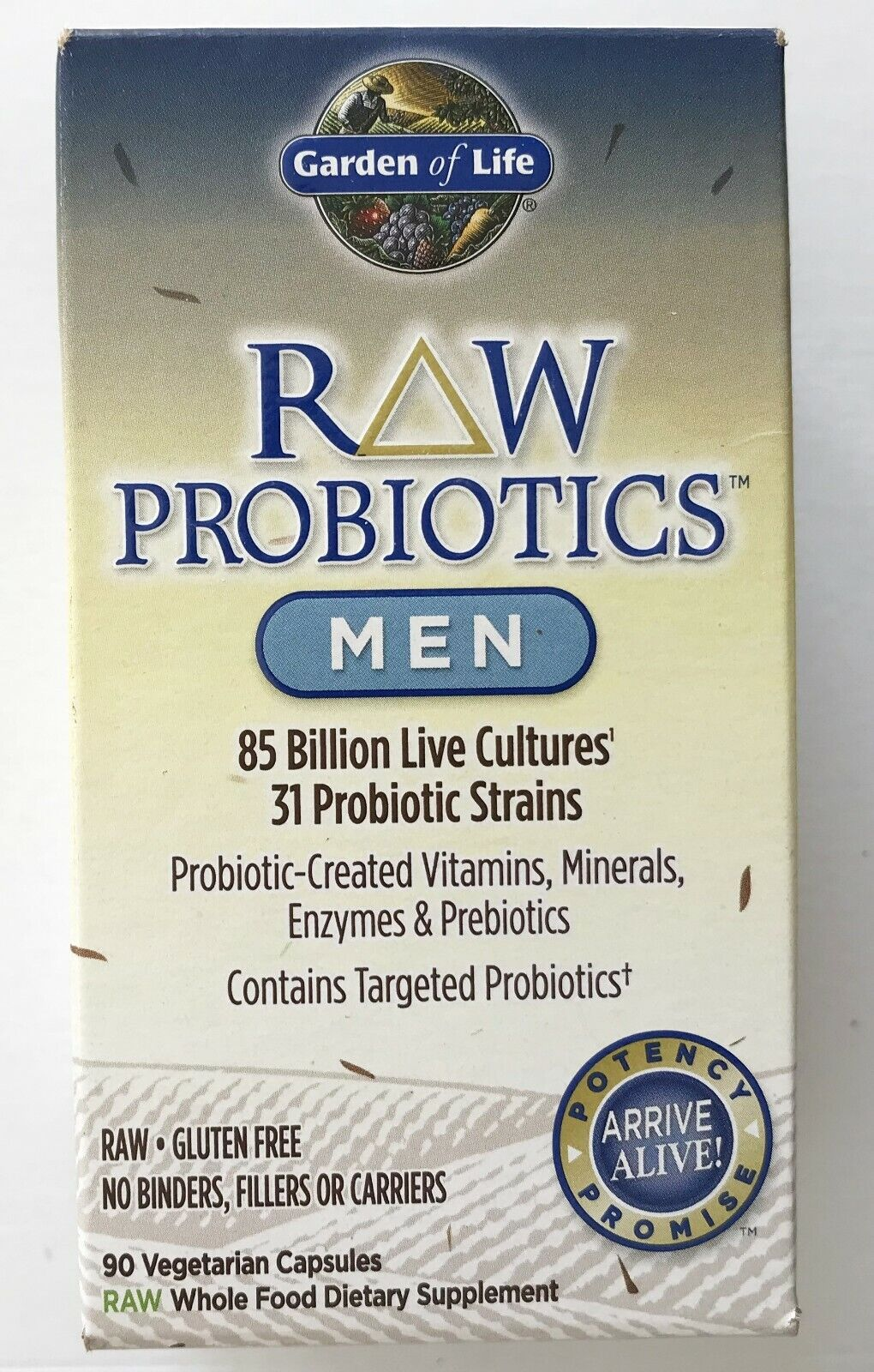 Garden of Life - Dietary Supplement RAW Probiotics - Men FOR
