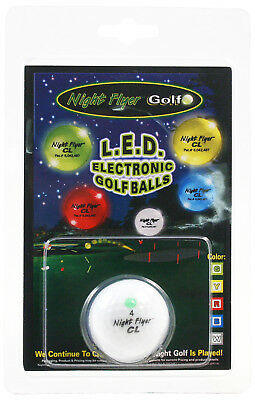 GREEN Night Flyer CL LED Light Up Golf Ball | Electronic Lighted Glow - Golf Ball Led