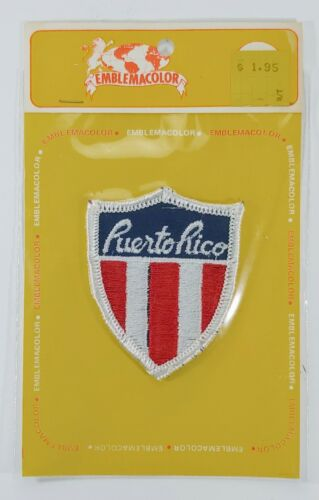 Vintage Puerto Rico Patch Emblemacolor Dynamic Products Corp.