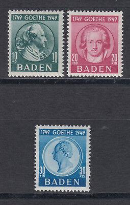 Baden 47-49 ** postfrisch Satz 1