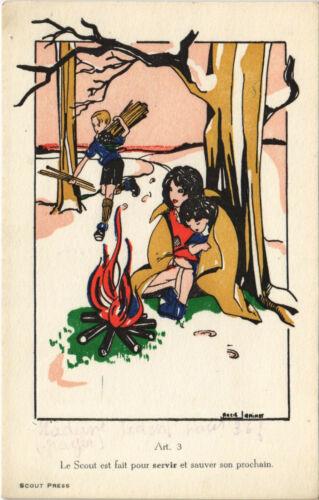 PC SCOUTING, LE SCOUT EST FAIT POUR SERVIR, Vintage Postcard (b28462)