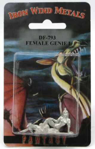 Ral Partha DF-793 Female Genie #1 (NPC Encounters) Djinn with Lamp Fantasy Jinn
