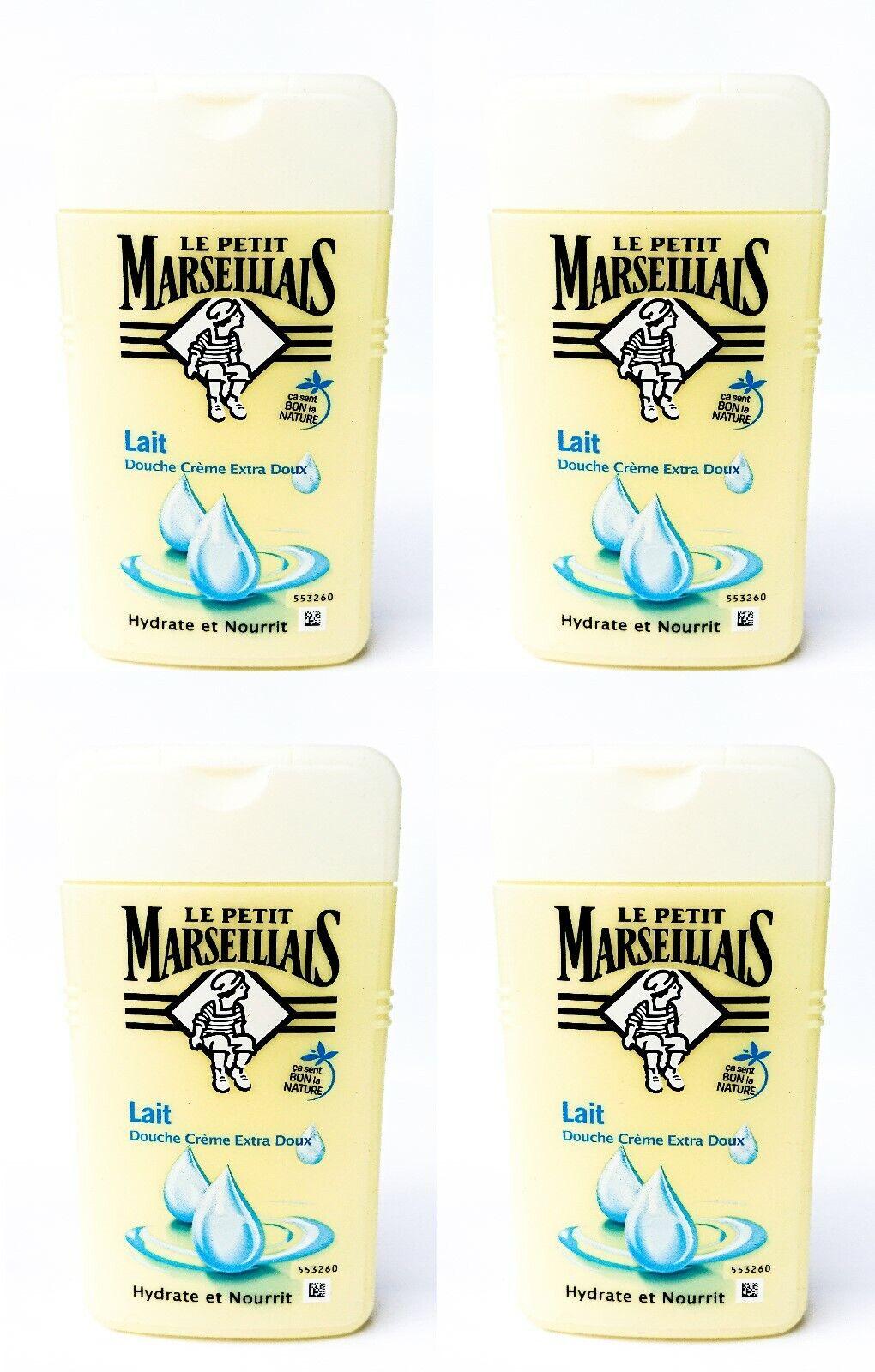 Milch Duschgel Duschcreme Le Petit Marseillais pflanzlich PH-neutral 4x 250ml