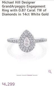 MICHAEL HILL ENGAGEMENT RING save yourself $2000!!! Scarborough Stirling Area Preview