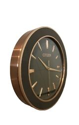 Citizens CC2011 13in Rose Gold Modern Gallery Wall Clock New