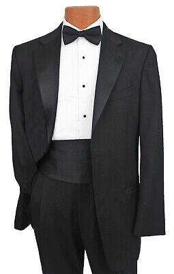 Men's Black Joseph Abboud Signature Tuxedo with Pants, Cummerbund, & Bow Tie (Black Tie Suits)