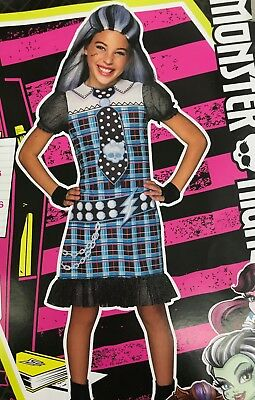 Monster High Costume Frankie Stein Child Halloween Girls Outfit Dress S or - Frankie Stein Costume Kids