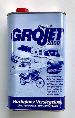 2000 Boot (Grojet 2000 Hochglanzversiegelung harter Acrylschutz f. Auto, Boot, Caravan - 1L)