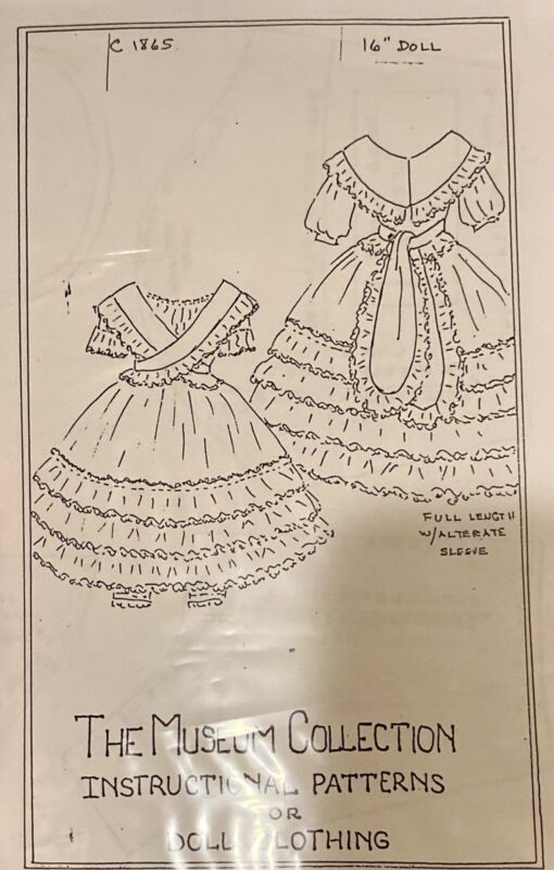 Doll Pattern For Fashion Or Lady Doll, Museum Collection Instructional Pattern