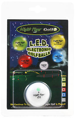 - Night Flyer CL LED Light Up Golf Ball | Electronic Lighted Glow Ball (GREEN)
