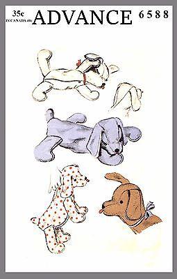 Stuffed Animal Stuffed Floppy Dog Toy Pajama case Fabric material Pattern #6588