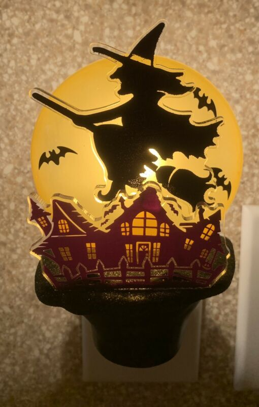 Costco Flying Witch with Haunted House Night Light  Halloween