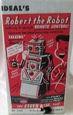 Ideal 's Robert the Robot Remote Control with box 1950's attic find