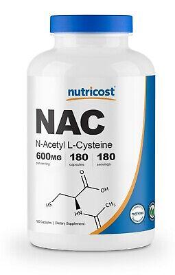 Nutricost N-Acetyl L-Cysteine (NAC) 600mg, 180 Capsules -