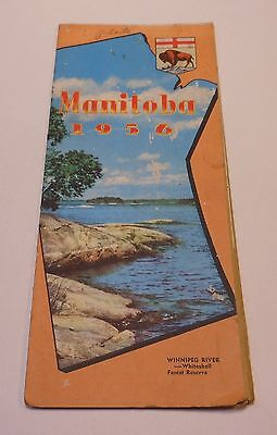 Vintage Manitoba Canada 1956 Map