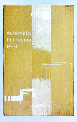 Automatic Cat Feeder, Roffie Dog Food Dispenser for Small Pets Distribution PF30