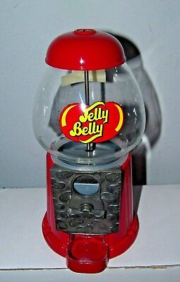 Small Working Metal & Glass Jelly Belly Red Candy & Gumball Machine Bank 9