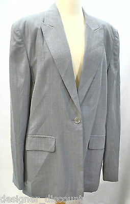 Talbots smooth worsted Wool 1 button womens suit jacket blazer Top Coat 16 NEW