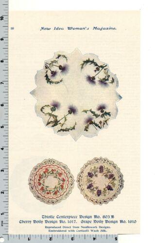 Vintage Ad - Corticelli Silk Doily Needlework Designs New Idea Womans Magazine