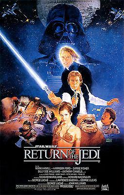 """STAR WARS RETURN OF THE JEDI 11""""x17"""" MOVIE POSTER PRINT #1"""