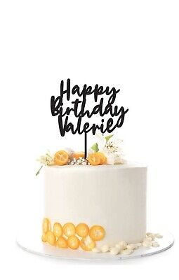 Personalized Cake Topper Wood  Happy Birthday Acrylic Cake Topper Happy Birt