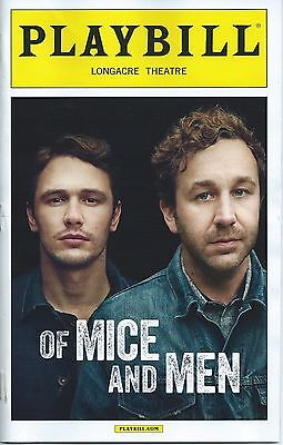 OF MICE AND MEN Broadway Playbill JAMES FRANCO CHRIS (Chris O Dowd Of Mice And Men)